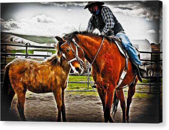 Friends Canvas Print by Denise Teague