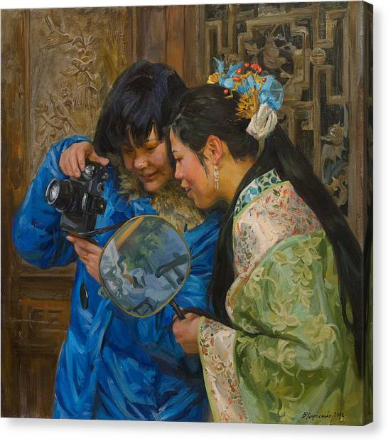 China Canvas Print - Friends by Victoria Kharchenko