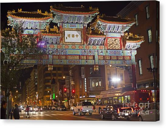 Friendship Archway In Chinatown Canvas Print
