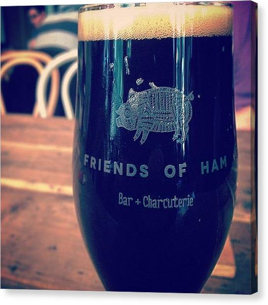 Oysters Canvas Print - #friendsofham #breakfast #oyster #stout by Luke Beaumont