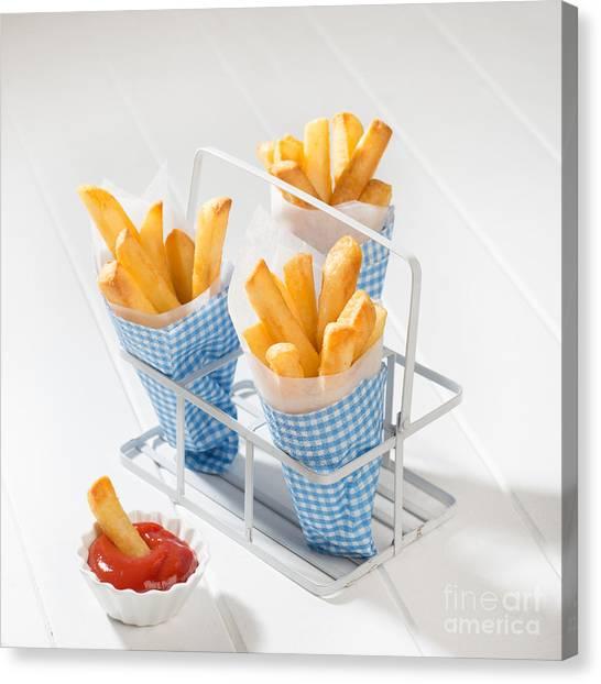 Ketchup Canvas Print - Fries by Amanda Elwell