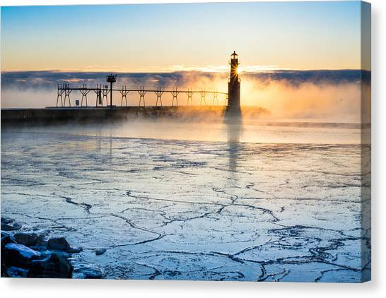 Frigid Sunrise Fog  Canvas Print
