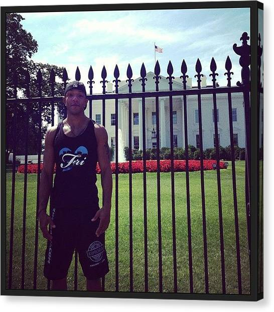 Tanks Canvas Print - #frilovecreations @ White House #dc by Edwardo D. Frias