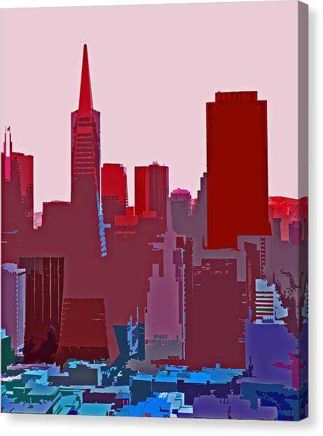 Frisco Skyline Canvas Print
