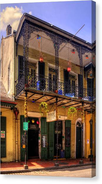 Fritzel's European Jazz Pub New Orleans Canvas Print