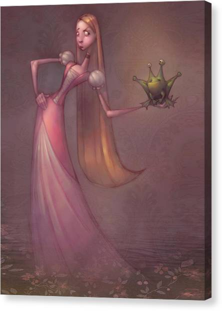 Frogs Canvas Print - Frog Prince by Adam Ford