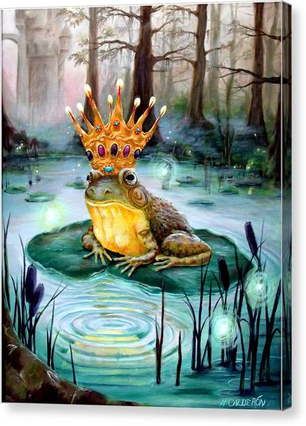 Heather Canvas Print - Frog Prince by Heather Calderon