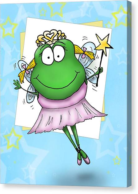 Froggy Fairy Canvas Print by Nicole Spencer