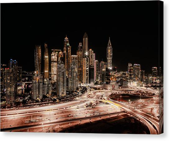 Skyscrapers Canvas Print - From Above by Carmine Chiriac?