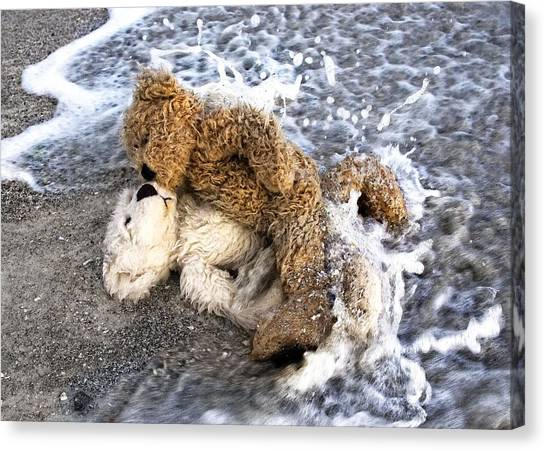 Teddybear Canvas Print - From Bear To Eternity - By William Patrick And Sharon Cummings by Sharon Cummings