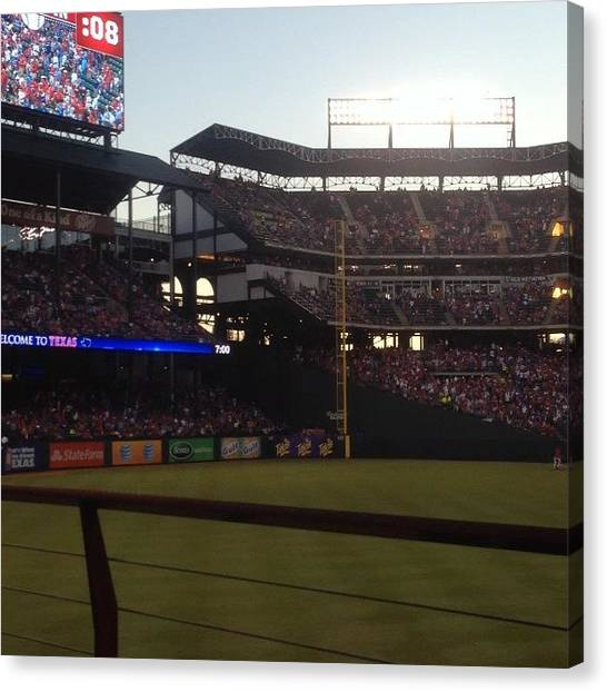 Texas Rangers Canvas Print - From Game 1 To Game by Reynaldo Soto