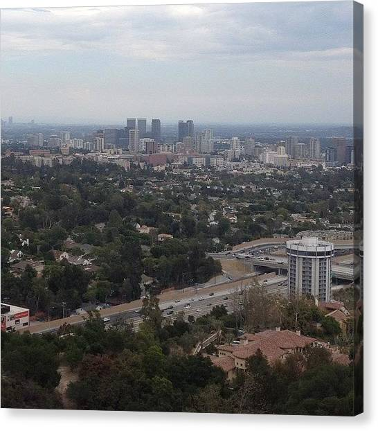 Los Angeles Canvas Print - Landscape Of Downtown La by Shaun Honolulu Hawaii