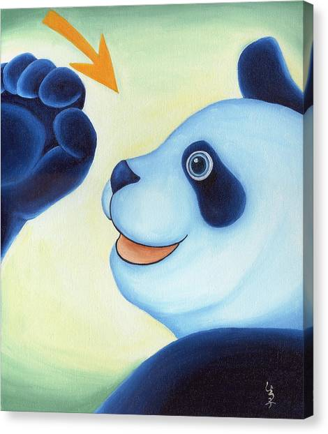 Canvas Print - From Okin The Panda Illustration 12 by Hiroko Sakai