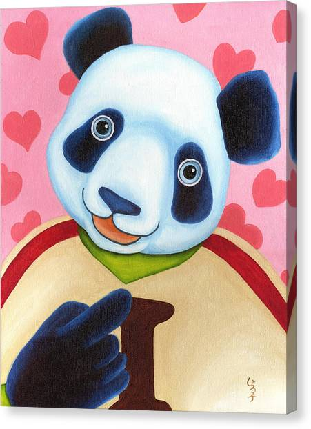 Canvas Print - From Okin The Panda Illustration 15 by Hiroko Sakai