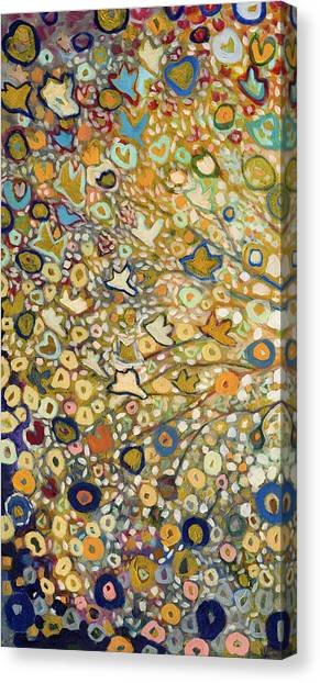 Gold Canvas Print - From Out Of The Rubble Part A by Jennifer Lommers