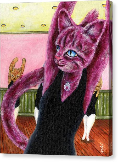 Canvas Print - From Purple Cat Illustration 16 by Hiroko Sakai