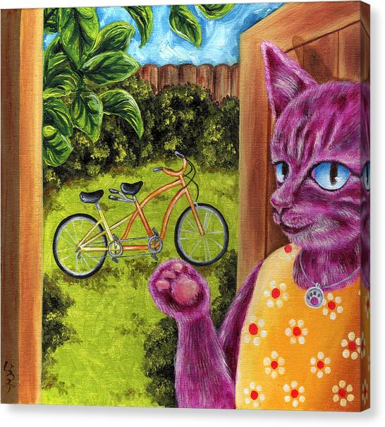 Canvas Print - From Purple Cat Illustration 22 by Hiroko Sakai