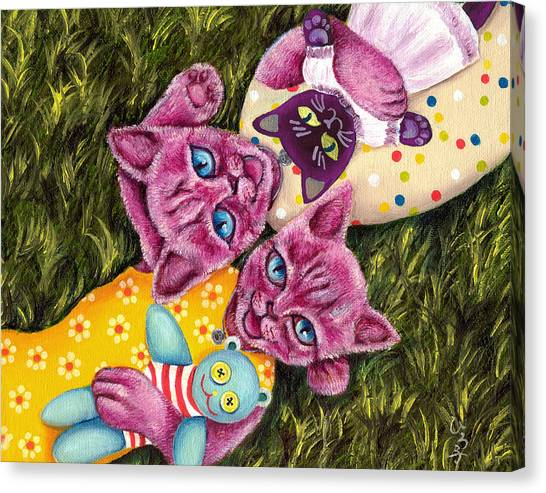 Canvas Print - From Purple Cat Illustration 23 by Hiroko Sakai