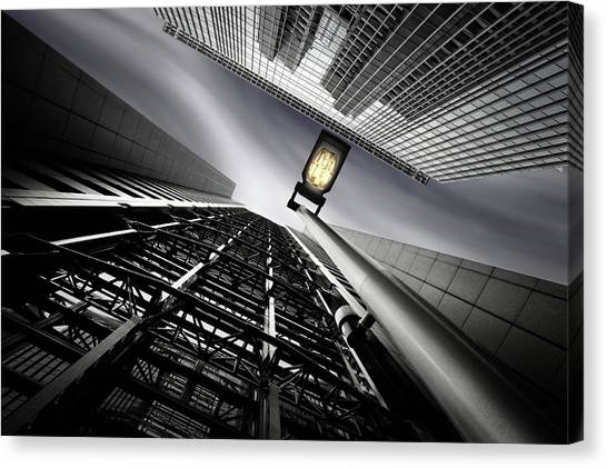 From Steel Gridded Nadir Canvas Print by Dr. Akira Takaue