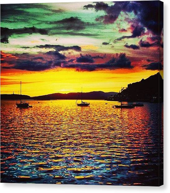 Scotch Canvas Print - From The #archives: A Late Sunset In by Nick Lucey
