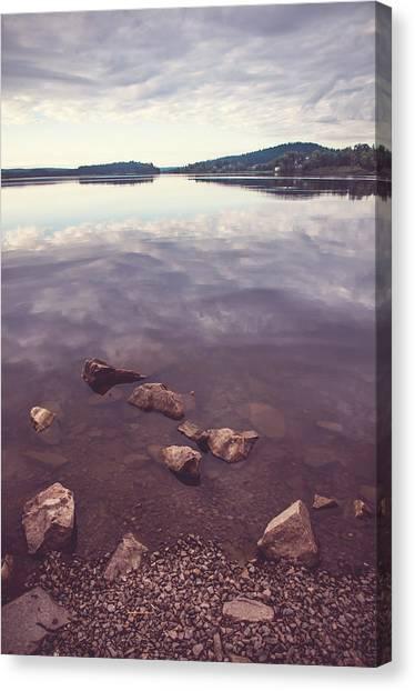 Jenny Lake Canvas Print - From The Depth Of Silence. Ladoga Lake  by Jenny Rainbow