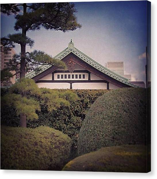 Plus Canvas Print - From The Grounds Of The #tokyo Imperial by Kenichi Iwai