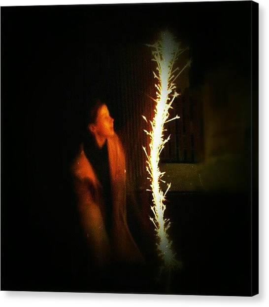 Flames Canvas Print - From The Last Year by Alexandra Cook