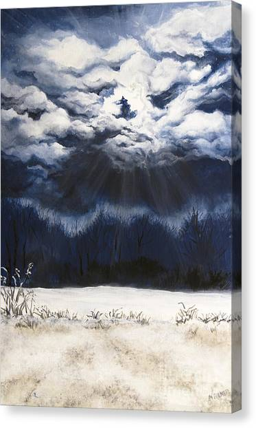 From The Midnight Sky Canvas Print