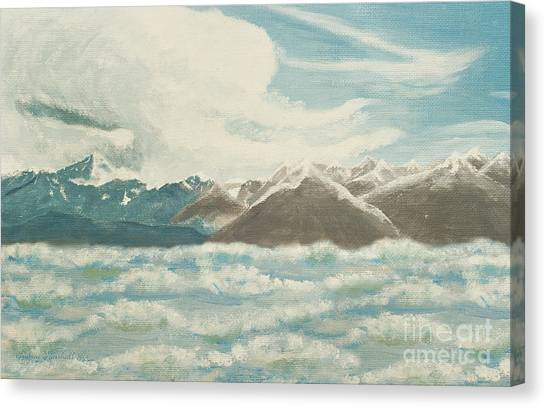 Andee Design White Canvas Print - From The Mountains To The Ocean by Andee Design