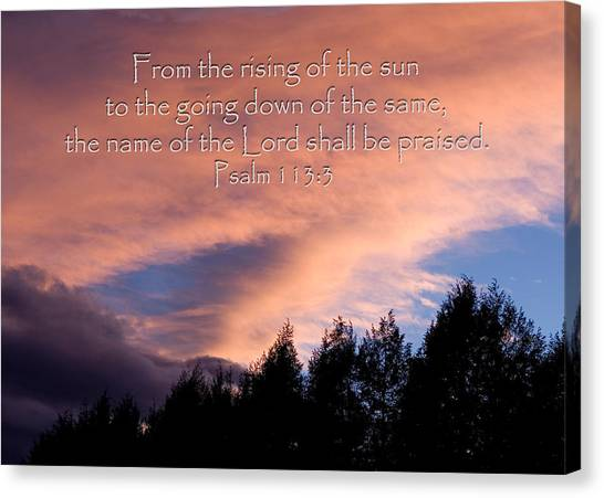 From The Rising Of The Sun Canvas Print
