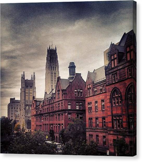 Harry Potter Canvas Print - From The Steps Of Columbia University by Rachel Waters