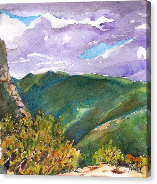 From Tuckerman's Ravine Canvas Print by Susan Herbst