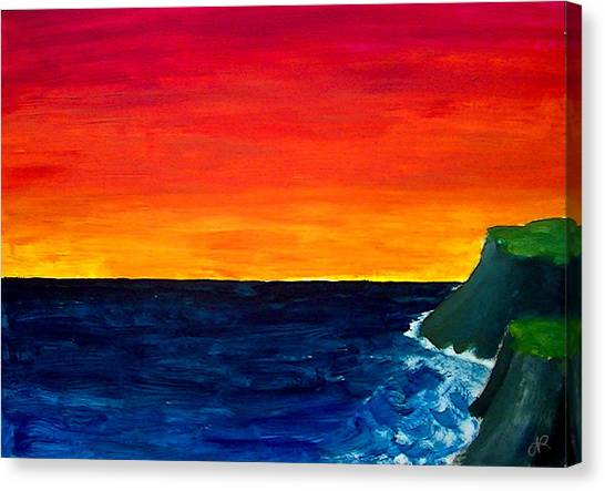 From Where The Sun Meets The Sea Canvas Print