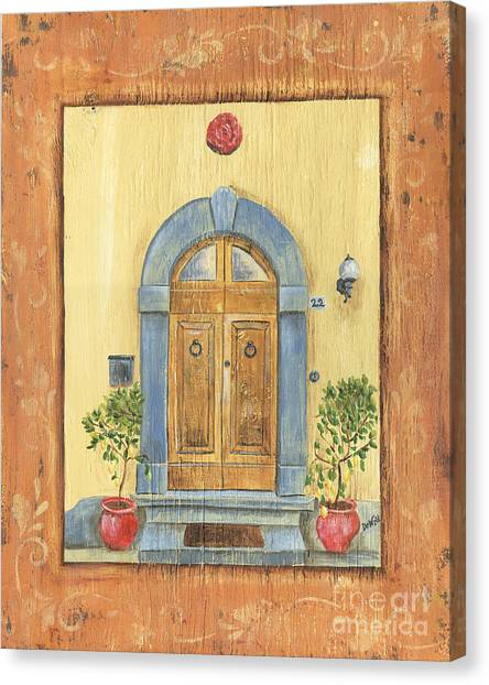 Old Door Canvas Print - Front Door 1 by Debbie DeWitt
