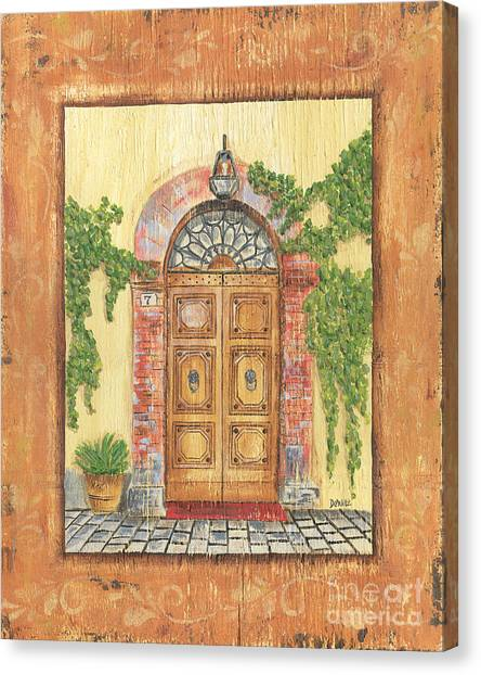 Old Door Canvas Print - Front Door 2 by Debbie DeWitt