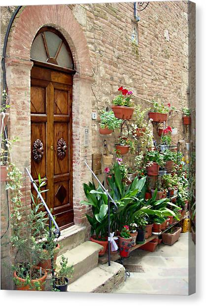 Red Door Canvas Print - Front Door by Ellen Henneke
