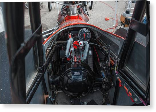 Front Engine Dragster Cockpit Canvas Print