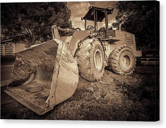 Excavators Canvas Print - Front Loader-1 by Rudy Umans