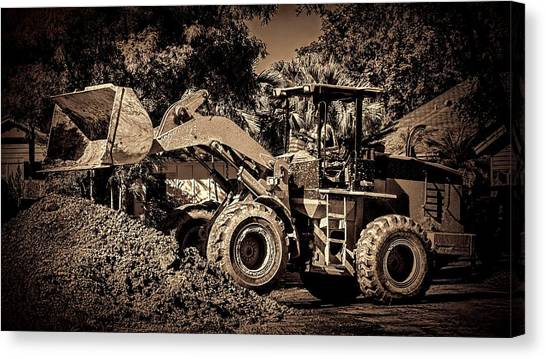 Excavators Canvas Print - Front Loader-6 by Rudy Umans