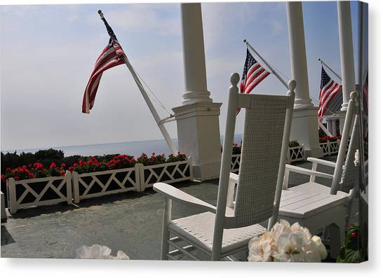 Front Porch II Grand Hotel On Mackinac Island Canvas Print