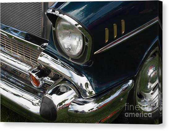 Front Side Of A Classic Car Canvas Print