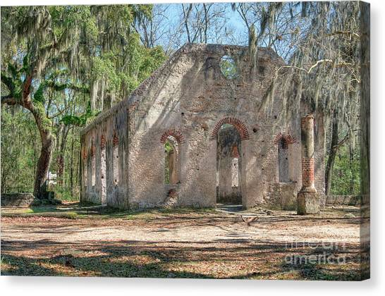 Front View Of The Chapel Of Ease Canvas Print