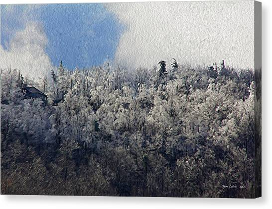 Frost Line Canvas Print