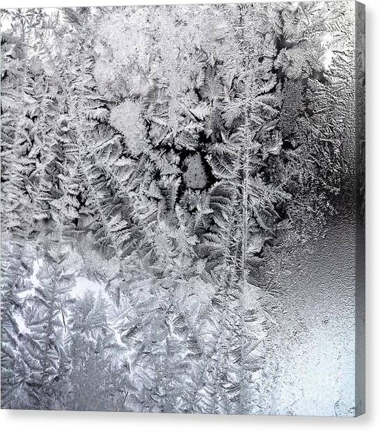 Frost Windowpane In Maine Number One Canvas Print