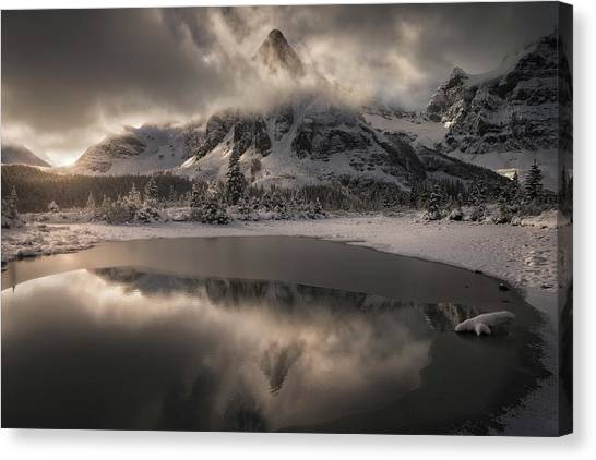 Alberta Canvas Print - Frosted Kingdom by Enrico Fossati