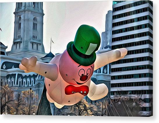 Macys Parade Canvas Print - Frosty In Philly by Alice Gipson