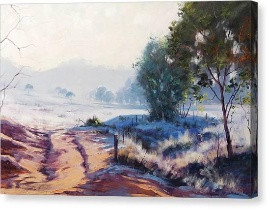 Frosty Canvas Print - Frosty Morning Hampton by Graham Gercken