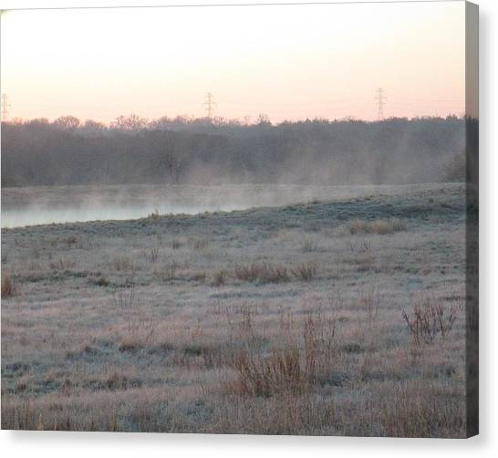 Frosty Morning Canvas Print by Rosalie Klidies