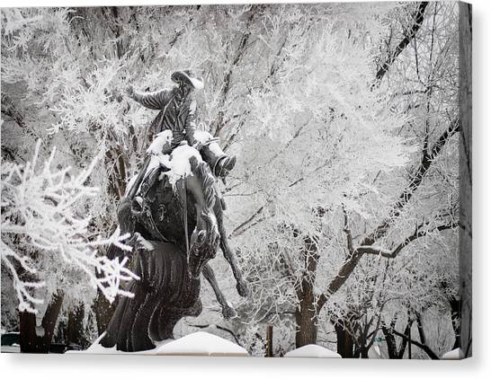 Oklahoma State University Canvas Print - Frosty Ranger by Valarie Case