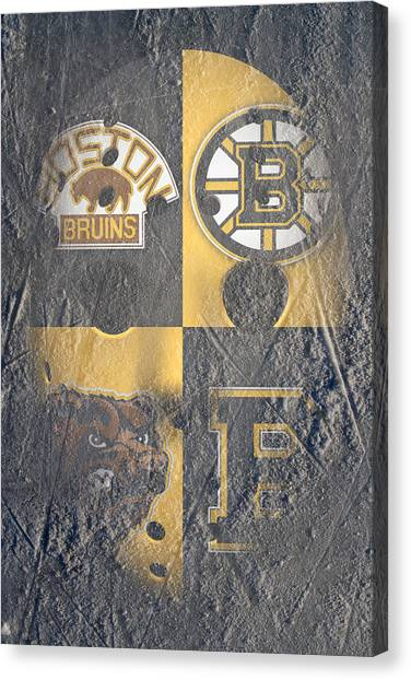 Boston Bruins Canvas Print - Frozen Bruins by Joe Hamilton
